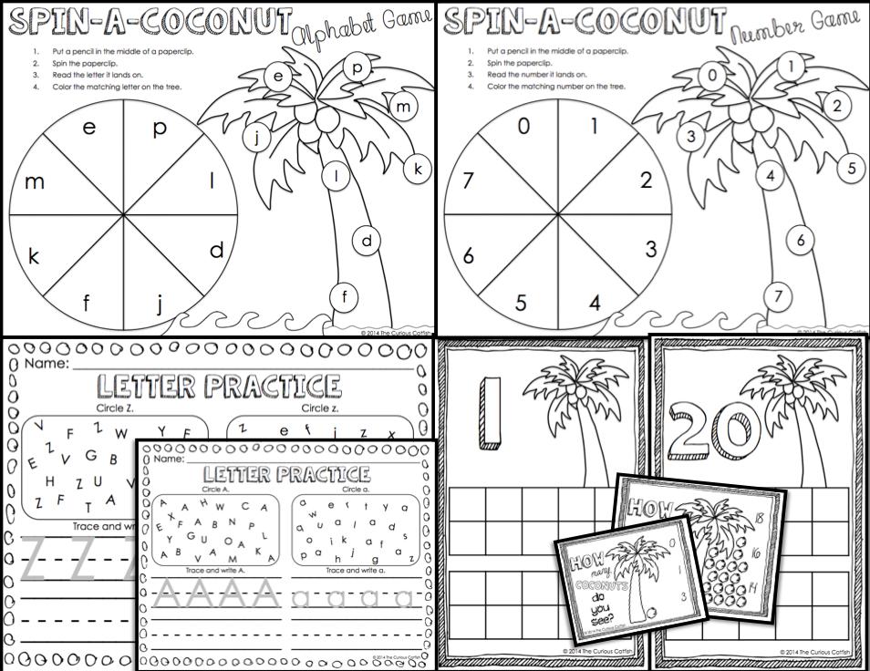 math worksheet : october 2014  the curious catfish : Chicka Chicka Boom Boom Worksheets For Kindergarten