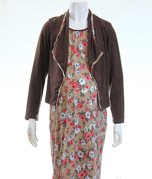Model Gamis Batik Kombinasi Ibu Hamil