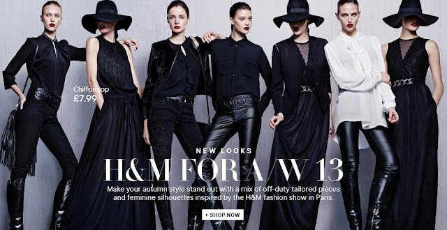 H&M A/W 13 collection advert