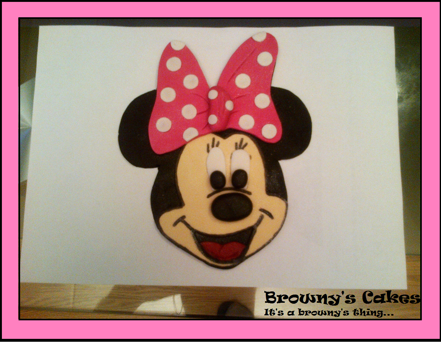 Minnie Mouse Cake Topper Images : Minnie mouse Cake topper Tutorial