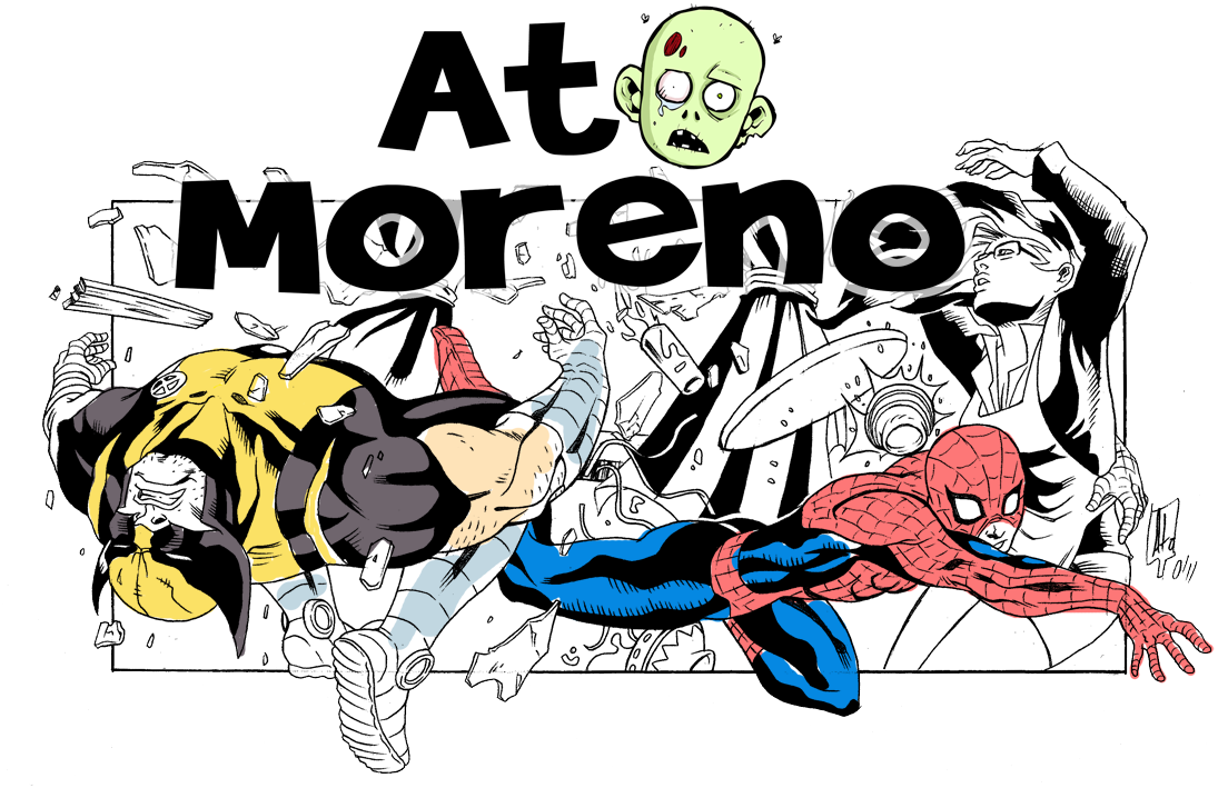 Ato Moreno Artist Home cartoonist pencils inks ink pencil comic artist ato moreno storyboard story