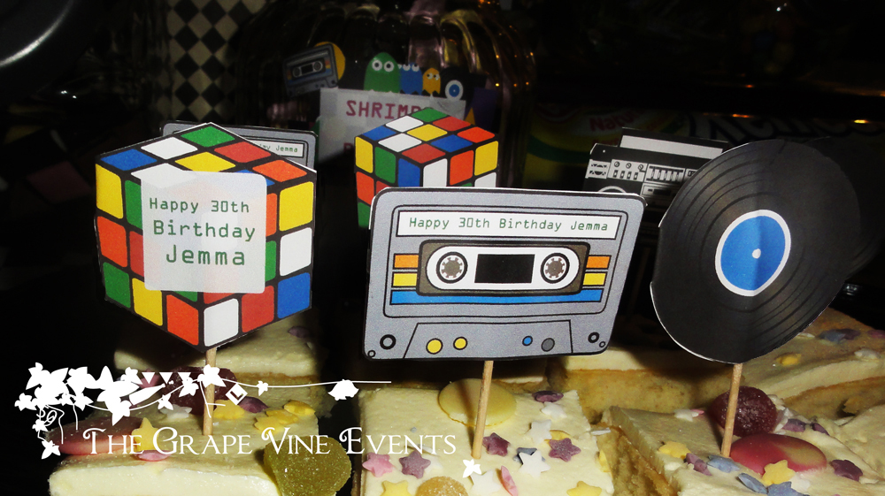 The grape vine events 80s themed birthday party for 80s cake decoration ideas