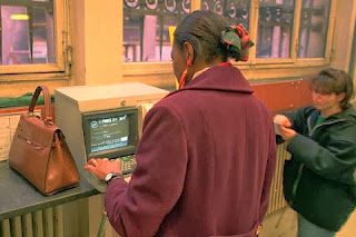 People could access Minitels in the Post Office and kiosks