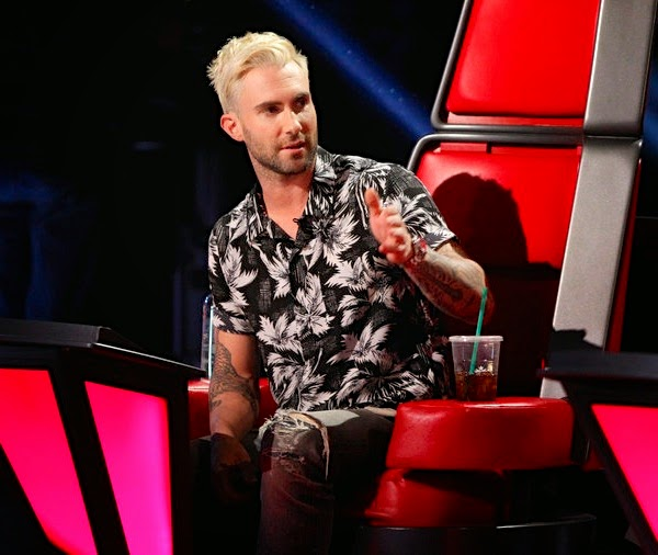 Adam Levine in Saint Laurent - The Voice USA May 2014