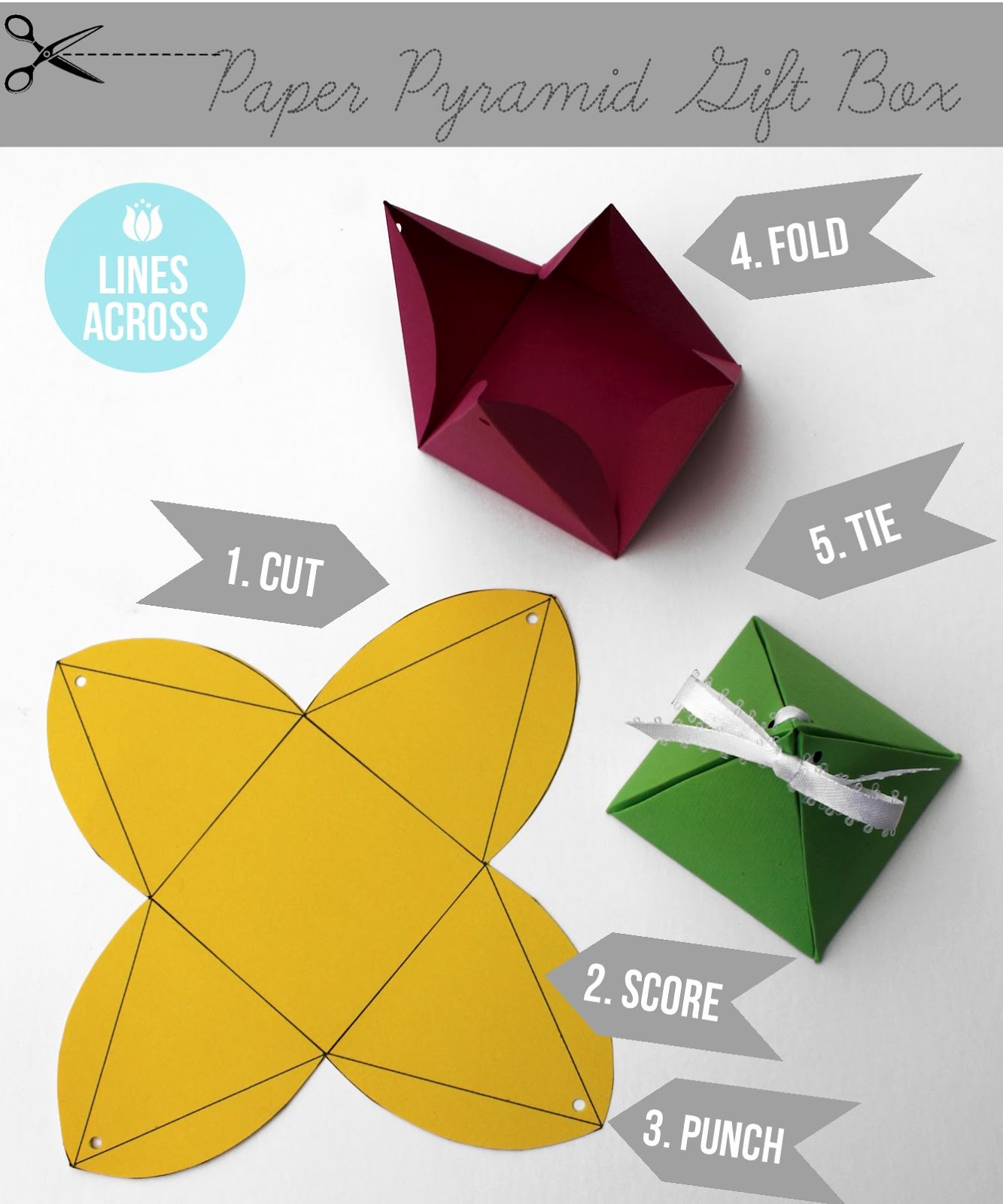 paper pyramid gift box template