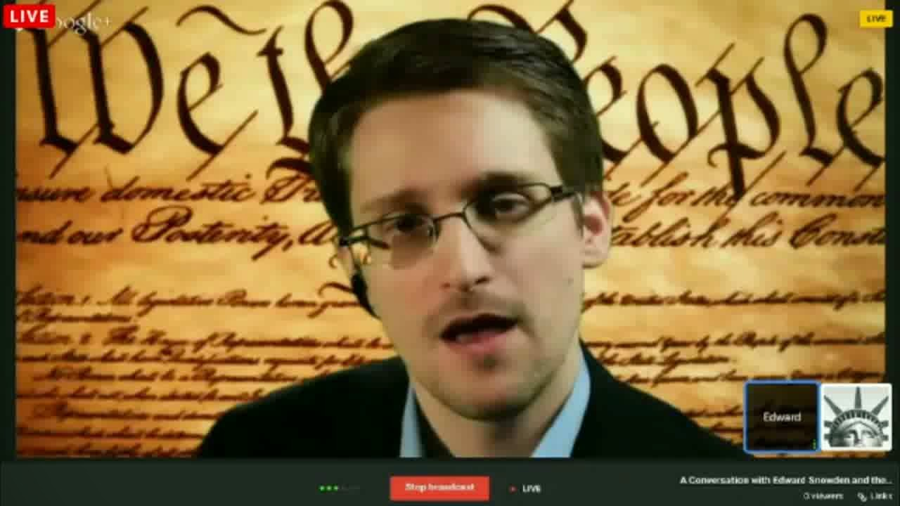 Snowden's first live: 'Constitution being violated on massive scale [FULL VIDEO]