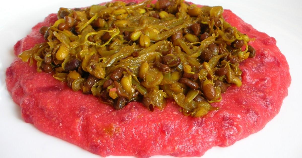 Three Cookies: Beetroot polenta, red velvet and vegetarian ...