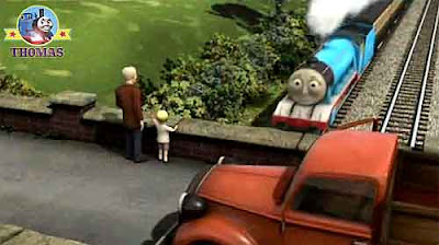 Spencer and Gordon the tank engine pull fast main line express passenger steam railway carriages