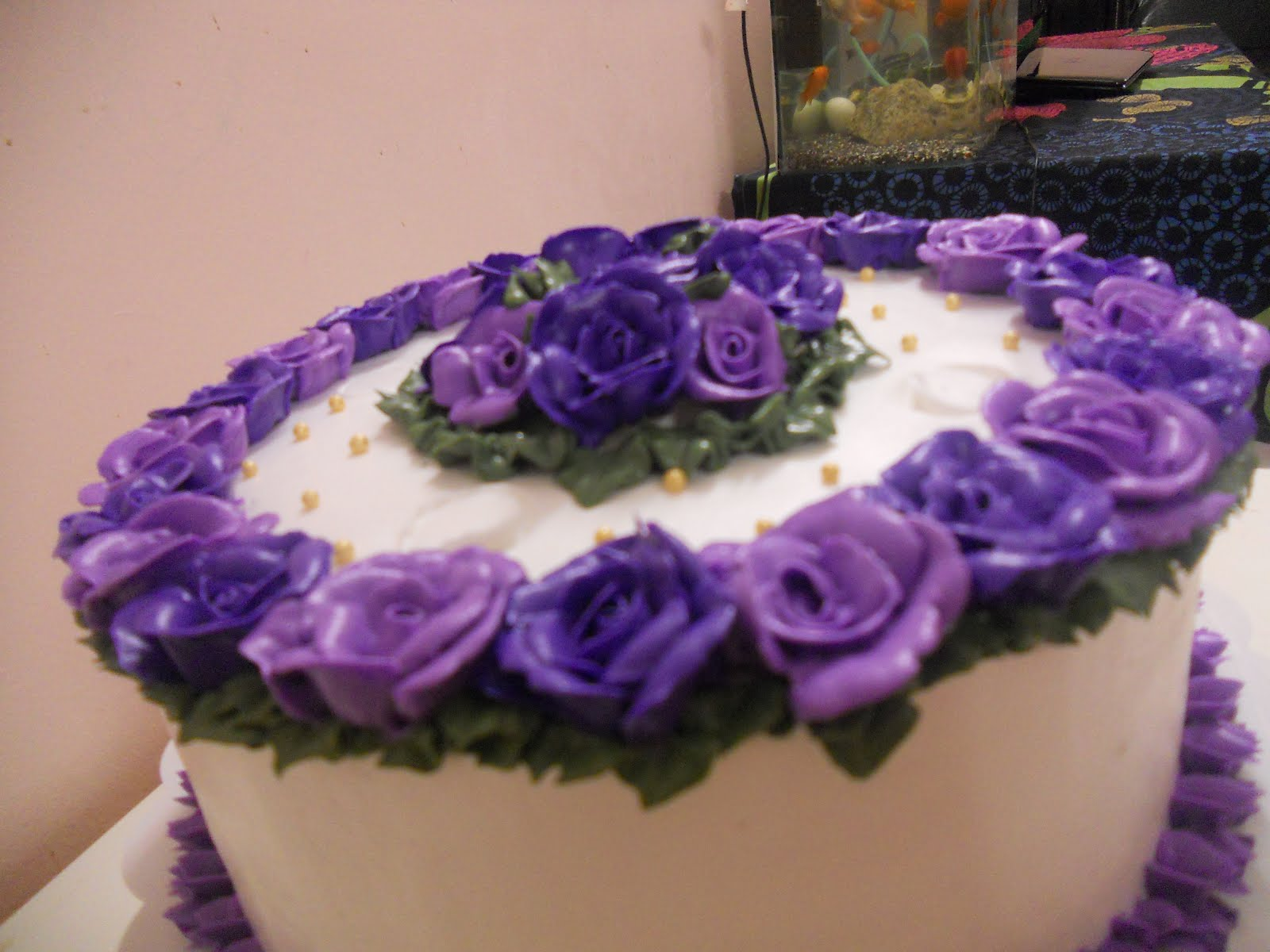 Wedding Cake in Purple Theme