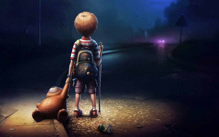 Can you post your mood in pictures... Alone-kid-hd-wallpaper