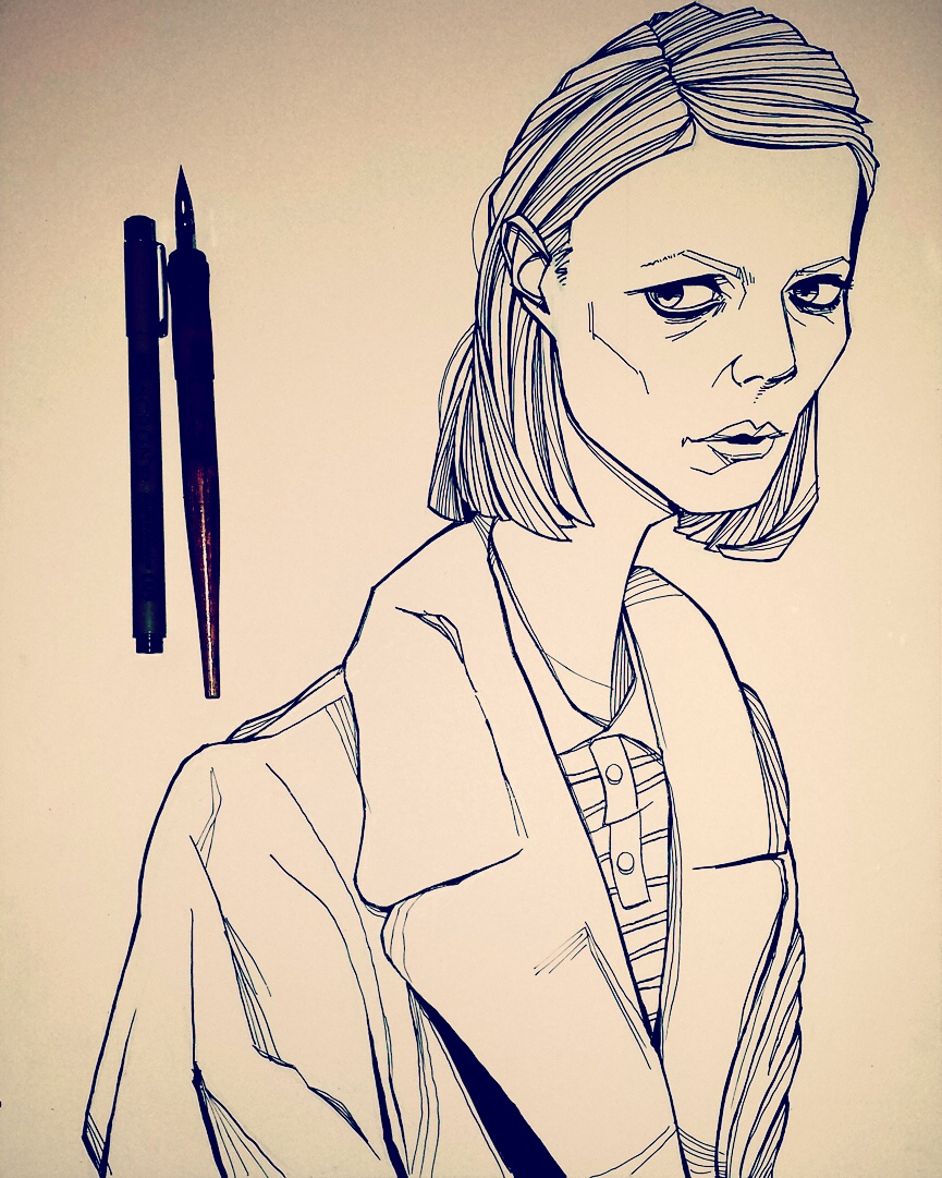 Drawing of Gwyneth Paltrow Royal Tenenbaums