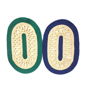 FabLooms Blue & Green Rope Door Mat - Set of 2 Just for 169/- Only