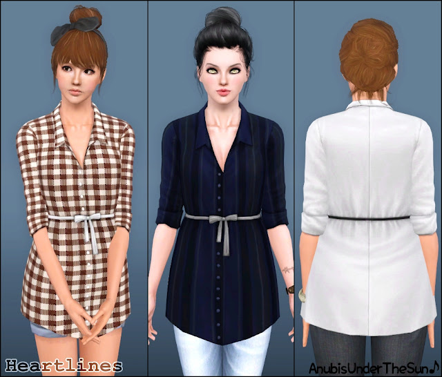Heartlines ~ Long Shirt Top by Anubis