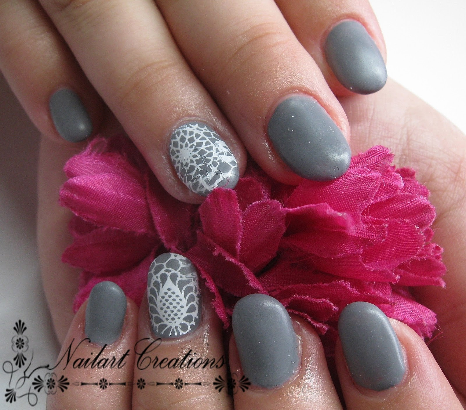 nailart creations gelnagels grey matt. Black Bedroom Furniture Sets. Home Design Ideas