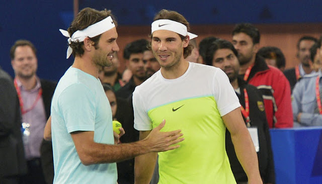 Rafael Nadal-Roger Federer's IPTL show behind the mike!
