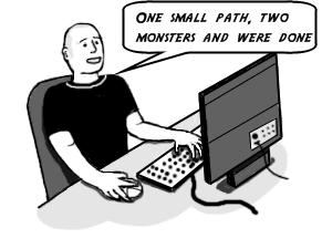 game designer cartoon