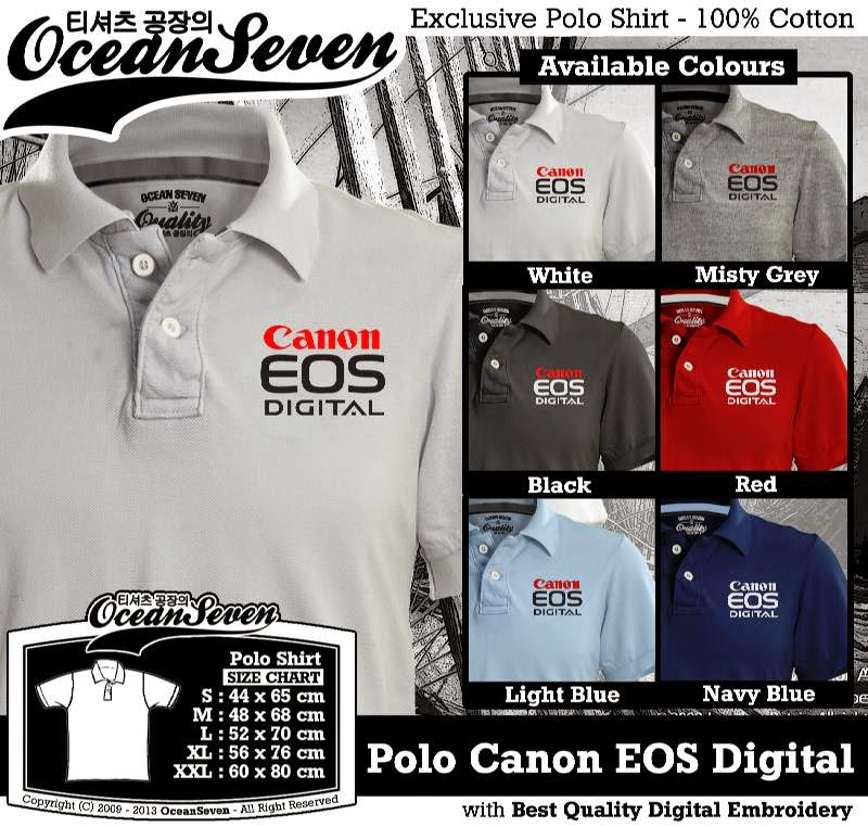 Kaos Polo Canon EOS Digital