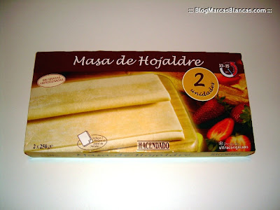 Masa de hojaldre (congelada) HACENDADO en el Blog de las Marcas Blancas