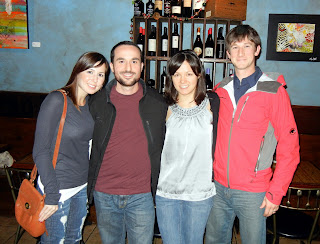Friends at a wine bar in Houston, TX