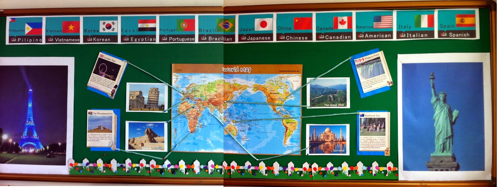 World Map bulletin board