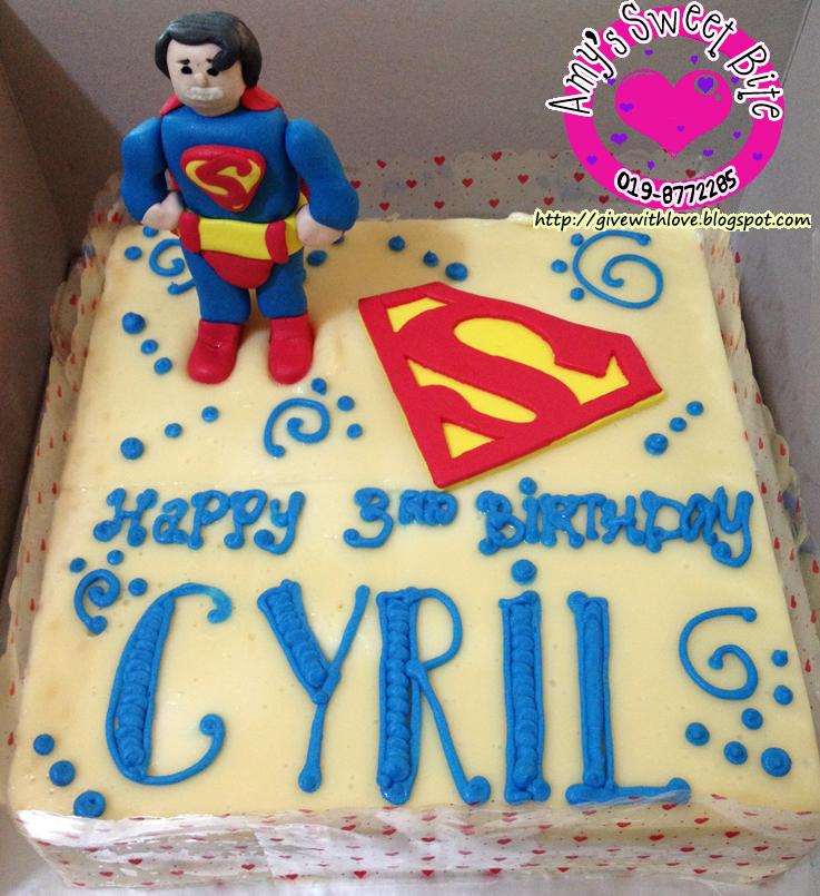 Amys Sweet Bite Birthday Cake Superman Theme