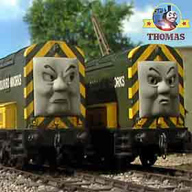 Day of the Diesels Iron 'Arry and Bert boy's toy Thomas wooden railway collection of model trains