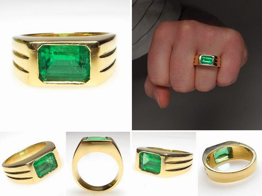 Emerald Gems Stone Gents Ring Jewellery Collection 41 Fashion
