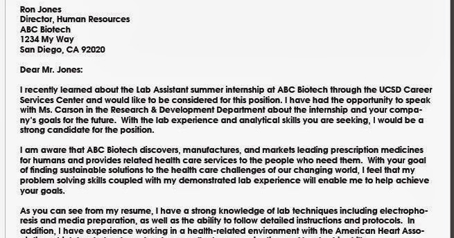 cover letter examples biotech cover letter and job
