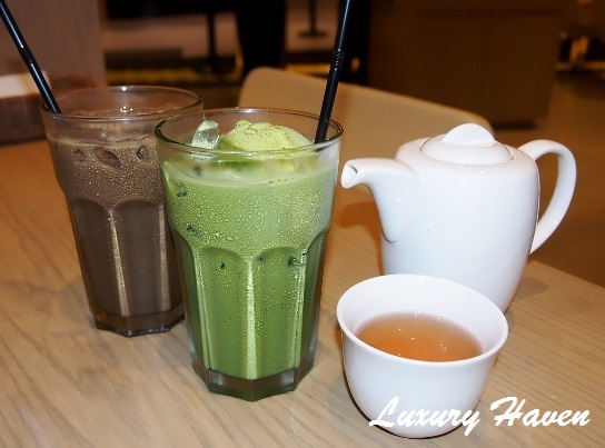 japanese nanas green tea matcha float hoji cha