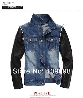 ao khoac jean phoi tay da nam1 Một số phong cách áo khoác nam trong năm nay