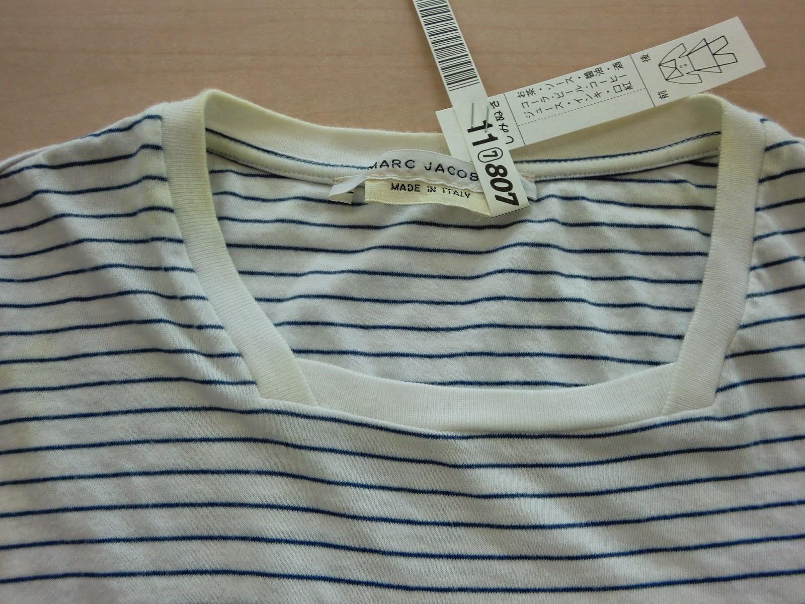 MARC JACOBS /マークジェイコブス  Tシャツしみぬき写真金沢市でブランド衣類のしみ抜きクリーニングの上手い店