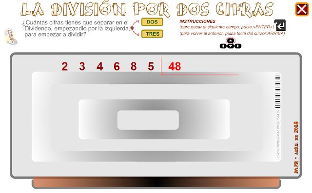 http://www3.gobiernodecanarias.org/medusa/eltanquematematico/ladivision/resuelve/ndoscifras/doscifras_p.html