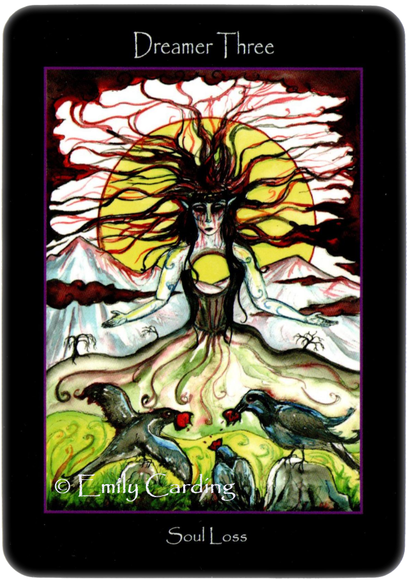 Tarot of the Sidhe Dreamer three Soul Loss Three of Swords