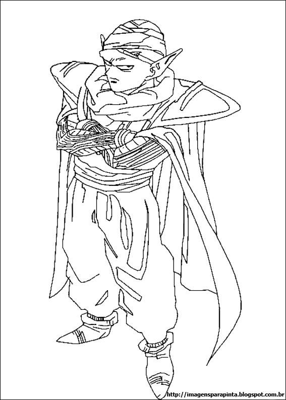 Desenho como desenhar Dragon ball z piccolo e kami sama pintar e colorir