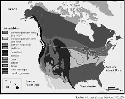 Peta Pola Iklim Amerika Serikat