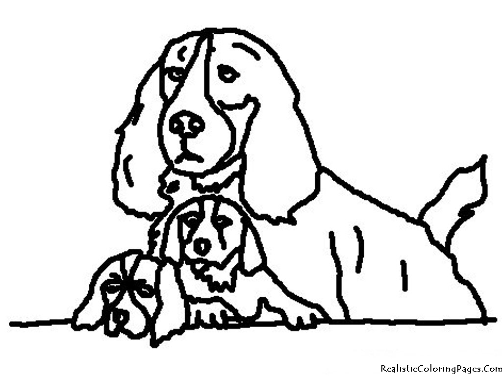 Christmas dog coloring pages free : Realistic coloring pages of dogs
