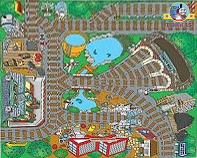 Take Along Thomas & His Friends Island of Sodor Nursery Playmat Carpet baby furniture interior decor
