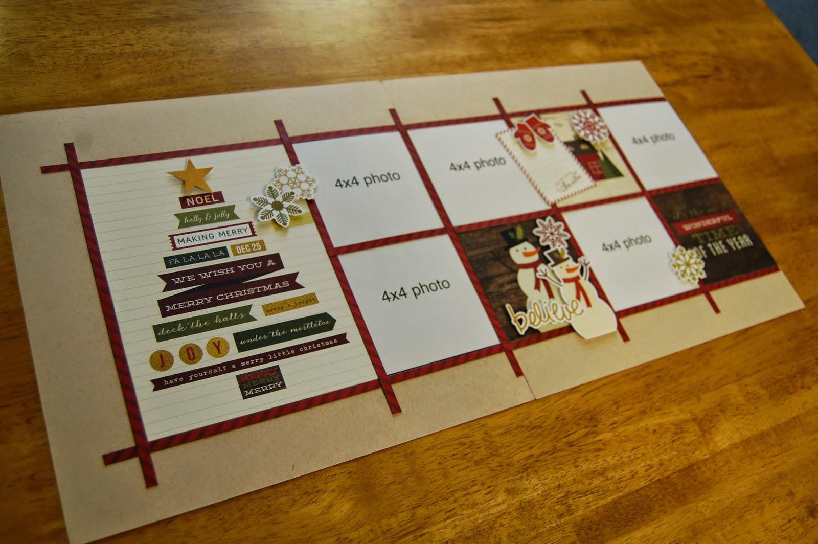 Scrapbook generation super sketch club photos for Christmas layout ideas