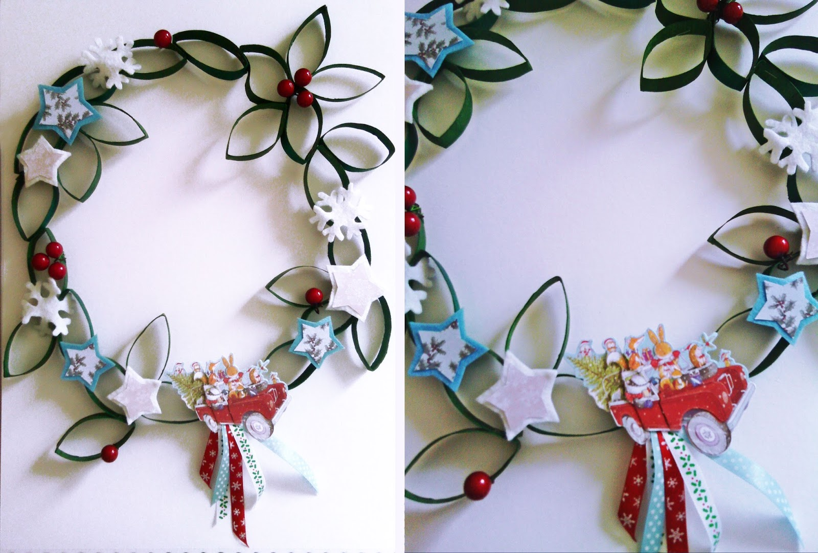 Fraizycircus diy couronne de no l en papier toilette - Creation couronne de noel ...