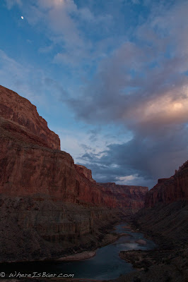 Nankoweap in the evening double click to check it out in full screen, I like the moon in the corner , Grand canyon of the colorado, Chris Baer