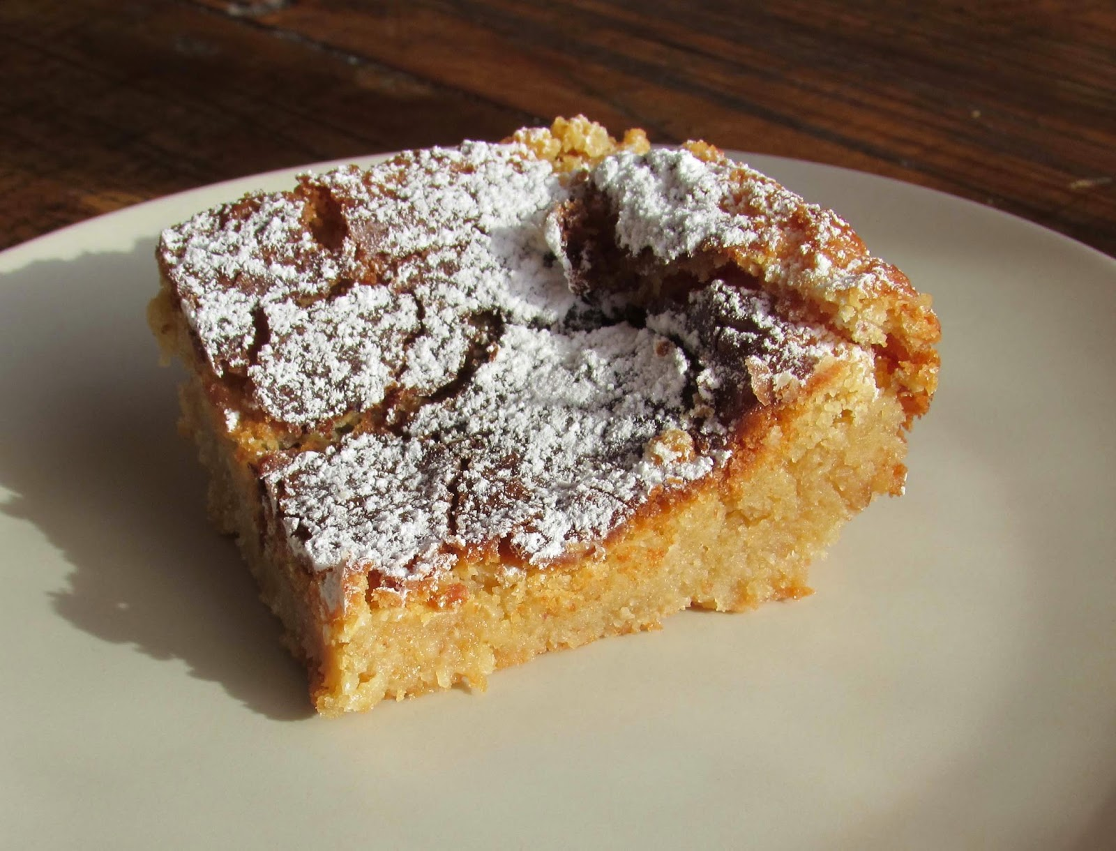 brownie de chocolate blanco, blondie, receta