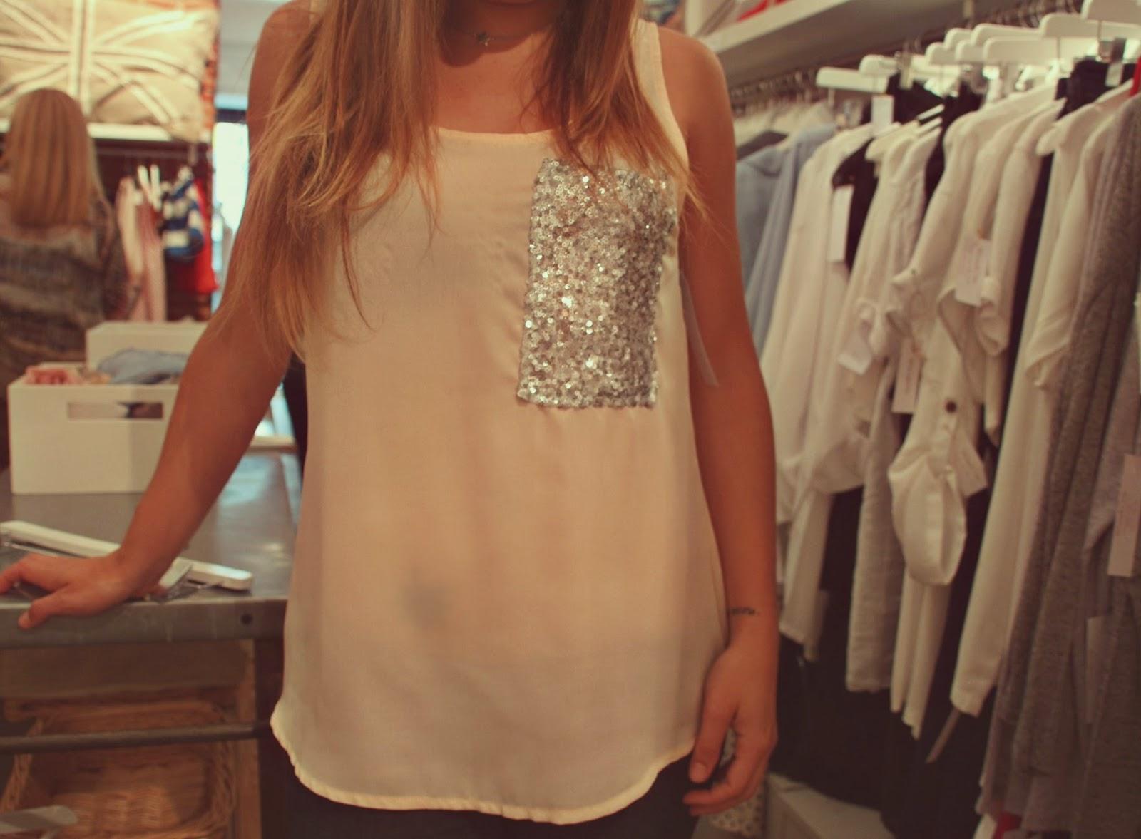 white&one,blusa,rosa pastel,bolsillo lentejuelas,chic,juvenil