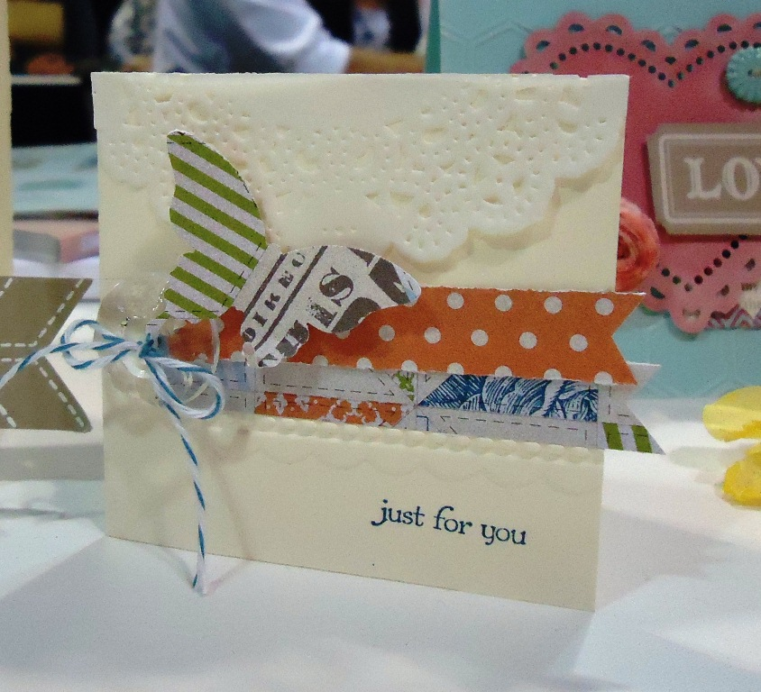 Mini 3x3 Gift Card with doily