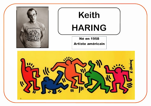 Keith Haring en MS - arts visuels sur le bonhomme