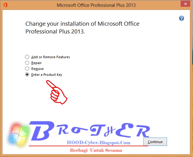office professional plus 2013 change product key