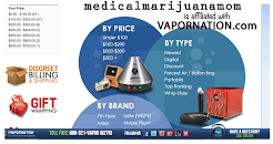 MedicalMjMom is affiliated with VAPORNATION - a terrific website with every vaporizer imaginable: