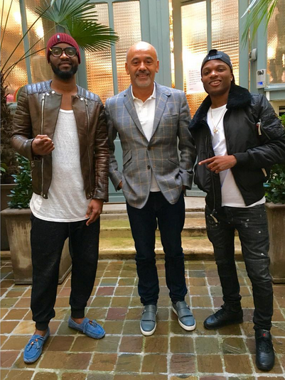 Wizkid and Fally Pupa hang out with Christian Louboutin.