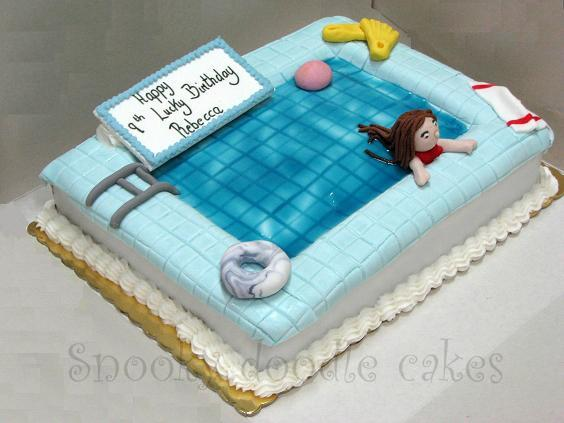 Snooky Doodle Cakes Pool Cake