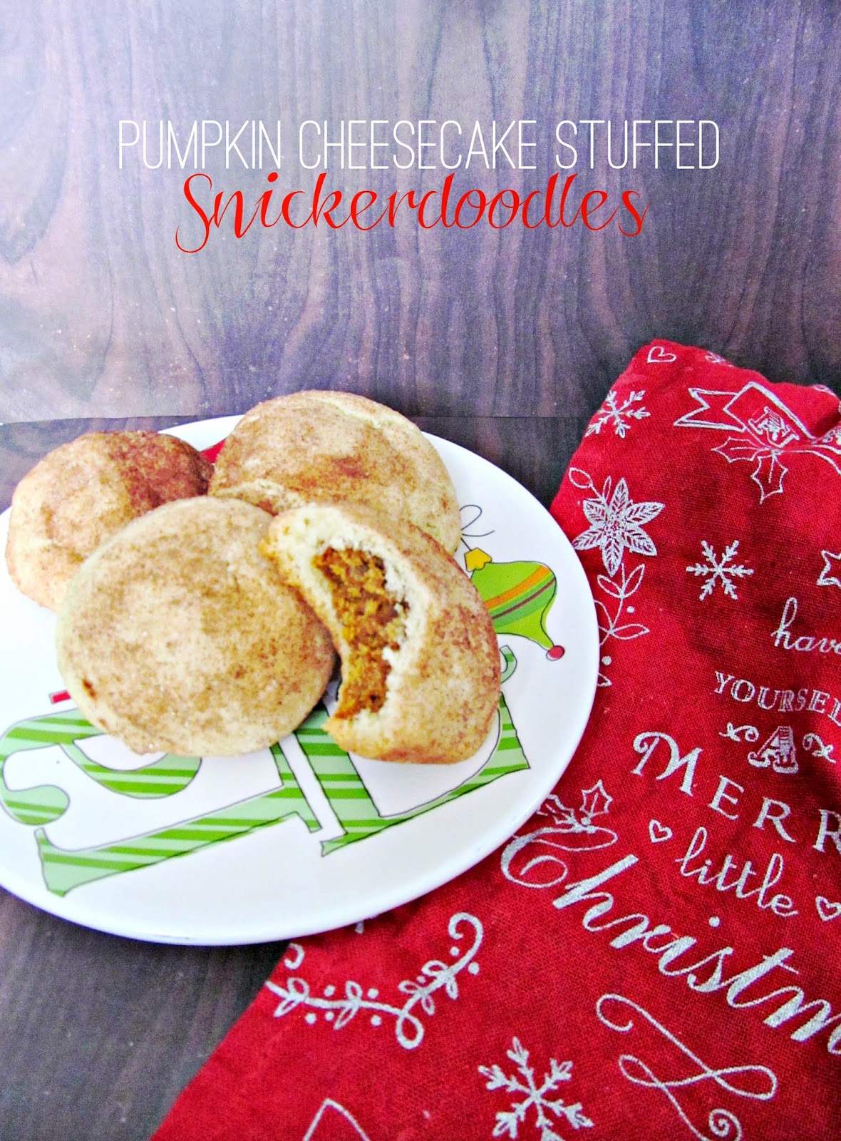 Pumpkin Cheesecake Stuffed Snickerdoodles... the perfect cookie for a holiday cookie swap!