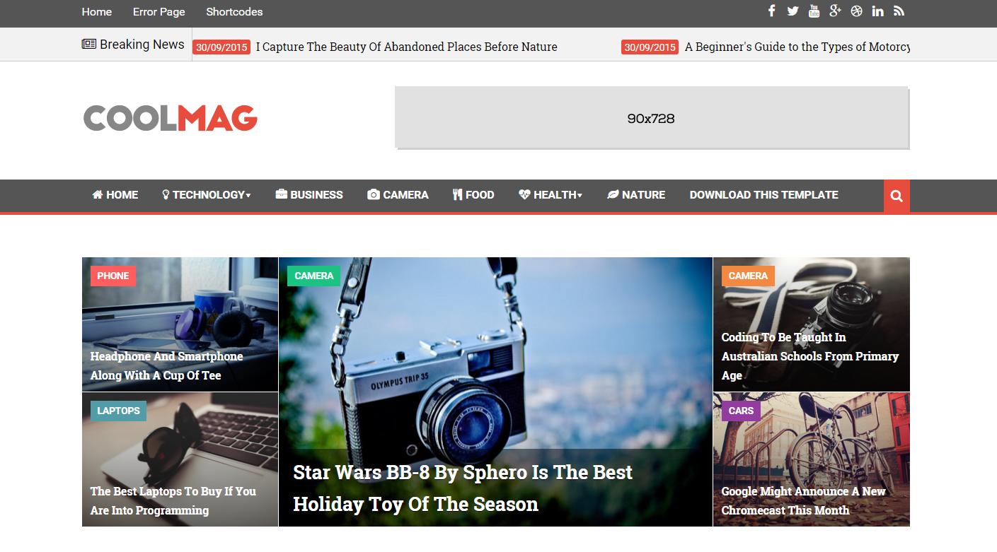 Free Blogger Templates 2016 | Top Beautiful Responsive Blog Themes